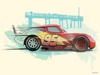 Komar Cars Lightning McQueen Kunstdruk 40x30cm