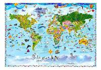 Artgeist World Map for Kids Vlies Fotobehang 100x70cm
