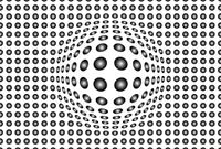 Wizard+Genius Dots Black and White Vlies Fotobehang 384x260cm 8-banen
