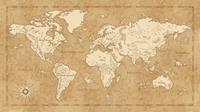 Komar Vintage World Map Vlies Fotobehang 500x280cm 10-banen