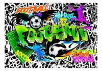 Artgeist Football Graffiti Vlies Fotobehang 200x140cm