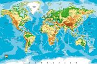 Dimex World Map Vlies Fotobehang 375x250cm 5-banen