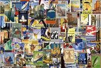 Wizard+Genius Vintage Travel Poster Vlies Fotobehang 384x260cm 8-banen