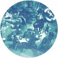 Komar Avengers Blue Power Zelfklevend Fotobehang 125x125cm rond
