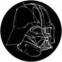 Komar Star Wars Ink Vader Zelfklevend Fotobehang 125x125cm rond
