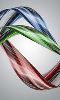 Dimex Glossy Wave Vlies Fotobehang 150x250cm 2-banen