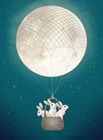 Wizard+Genius Moonbunnies Vlies Fotobehang 192x260cm 4-banen