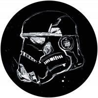 Komar Star Wars Ink Stormtrooper Zelfklevend Fotobehang 125x125cm rond