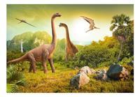 Artgeist Dinosaurs Vlies Fotobehang 100x70cm