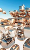 Dimex Silver Cubes Vlies Fotobehang 150x250cm 2-banen