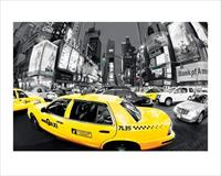 Pyramid Rush Hour Times Square Yellow Cabs Kunstdruk 80x60cm