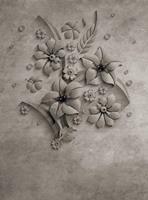 Wizard+Genius Stone Flowers Vlies Fotobehang 192x260cm 4-banen
