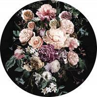 Komar Enchanted Flowers Vlies Fotobehang 125x125cm rond