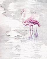 Komar Pink Flamingo Vlies Fotobehang 200x250cm 2-banen