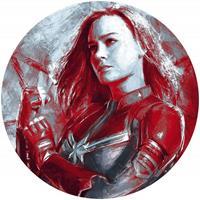 Komar Avengers Painting Captain Marvel Zelfklevend Fotobehang 125x125cm rond