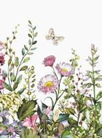 Wizard+Genius Summer Flowers Vlies Fotobehang 192x260cm 4-banen