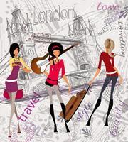 Dimex London Style Vlies Fotobehang 225x250cm 3-banen