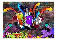 Artgeist Graffiti Colourful Attack Vlies Fotobehang 100x70cm