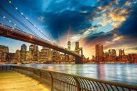 Papermoon Manhattan Zonsondergang Vlies Fotobehang 350x260cm