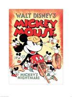 Pyramid Mickey Mouse Mickeys Nightmare Kunstdruk 60x80cm