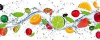 Dimex Fruits in Water Vlies Fotobehang 375x150cm 5-banen