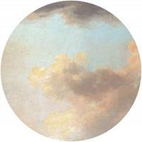 Komar Relic Clouds Vlies Fotobehang 125x125cm rond