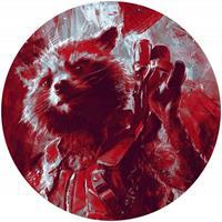 Komar Avengers Painting Rocket Raccoon Zelfklevend Fotobehang 125x125cm rond