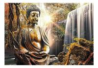 Artgeist Waterfall of Contemplation Vlies Fotobehang 100x70cm