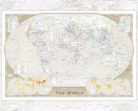 GBeye World Map Tripel Poster 50x40cm