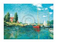 PGM Claude Monet - Red Boats Kunstdruk 80x60cm