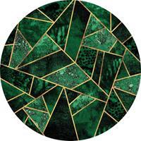 Wizard+Genius Dark Green Emeralds Vlies Fotobehang 140x140cm rond