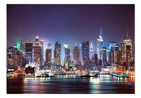 Artgeist Night in New York City Vlies Fotobehang 100x70cm