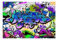 Artgeist Graffiti Violet Theme Vlies Fotobehang 100x70cm