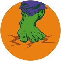 Komar Avengers Hulks Foot Pop Art Zelfklevend Fotobehang 125x125cm rond