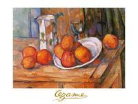 PGM Paul Cézanne - Bricco, bicchiere e piatto Kunstdruk 80x60cm