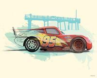 Komar Cars Lightning McQueen Kunstdruk 50x40cm