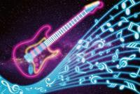 Wizard+Genius Kids Guitar Vlies Fotobehang 384x260cm 8-banen
