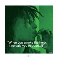 Pyramid Bob Marley iQuote Herb Kunstdruk 40x40cm