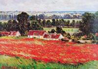 PGM Claude Monet - Field of Poppies Kunstdruk 100x70cm