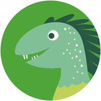 Komar Little Dino Velo Zelfklevend Fotobehang 125x125cm rond