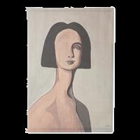 HKliving Wanddoek Woman Portrait by Sella Molenaar 2 x 100 x 70