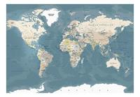 Artgeist Vintage World Map Vlies Fotobehang 100x70cm