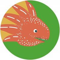 Komar Little Dino Proto Zelfklevend Fotobehang 125x125cm rond