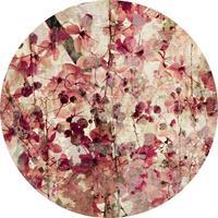 Wizard+Genius Vintage Flower Pattern Vlies Fotobehang 140x140cm rond