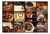 Artgeist Coffee Collage Vlies Fotobehang 100x70cm