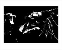 Pyramid Bob Marley Black and White Kunstdruk 40x50cm