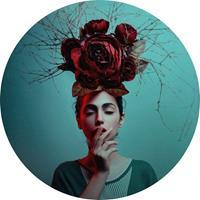 Wizard+Genius Flowers in her Hair Vlies Fotobehang 140x140cm rond