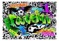 Artgeist Football Graffiti Vlies Fotobehang 150x105cm