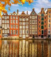 Dimex Houses in Amsterdam Vlies Fotobehang 225x250cm 3-banen