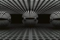 Wizard+Genius 3D Sphere Silver Vlies Fotobehang 384x260cm 8-banen